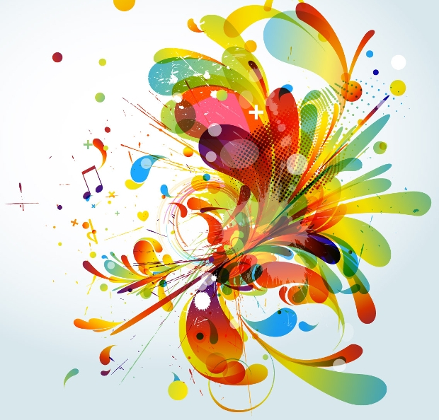 Abstract Colorful Fashion Vector
