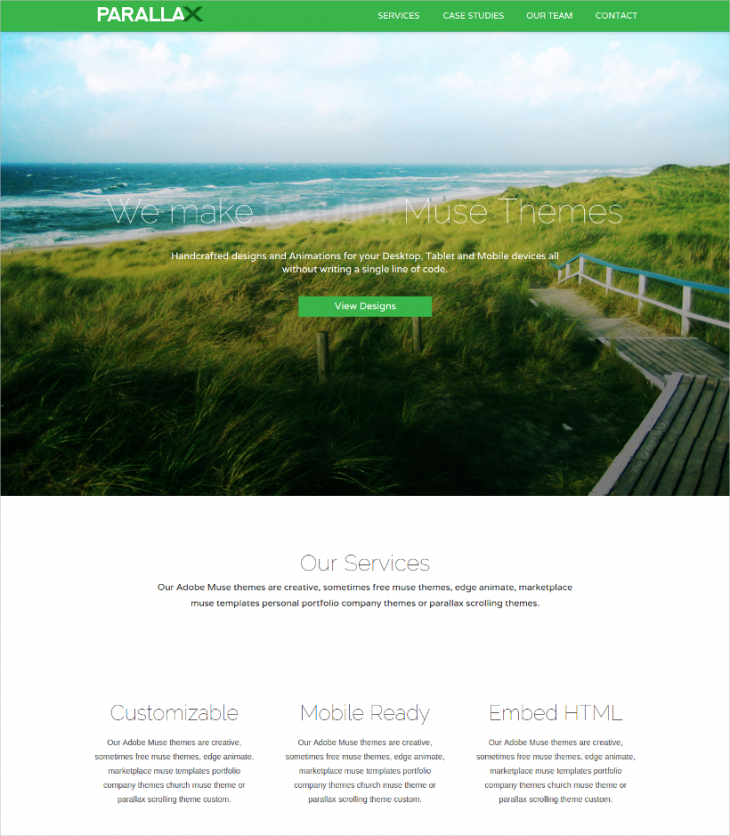 Parallax Scrolling Themes