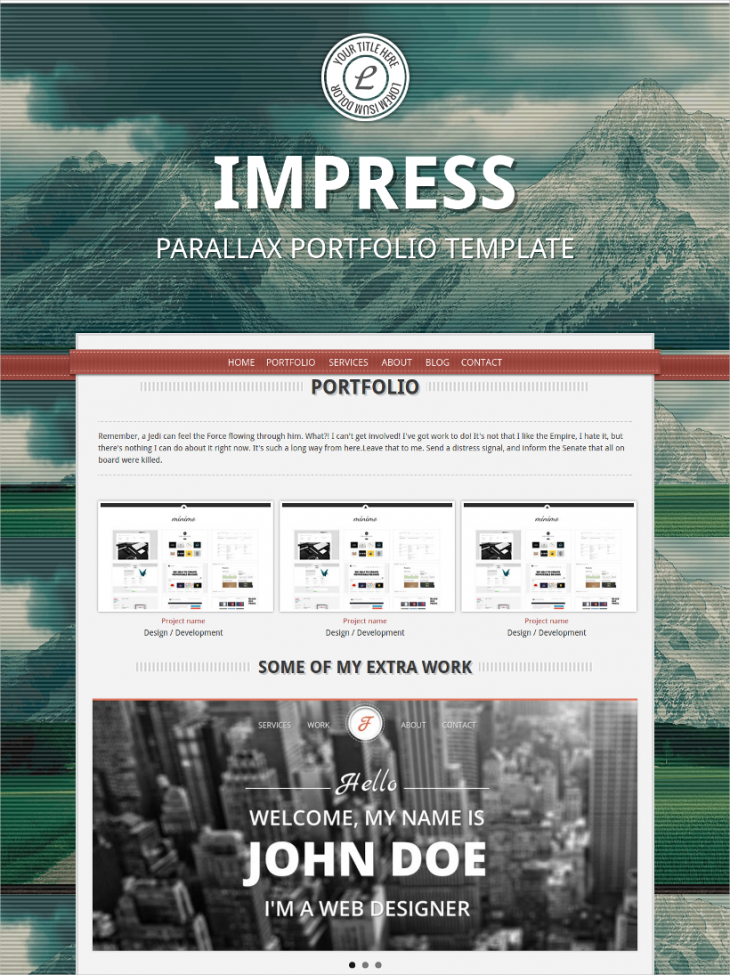 Parallax Single Page theme