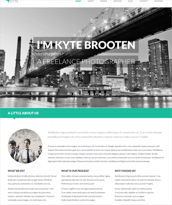 Flat Onepage WordPress Theme