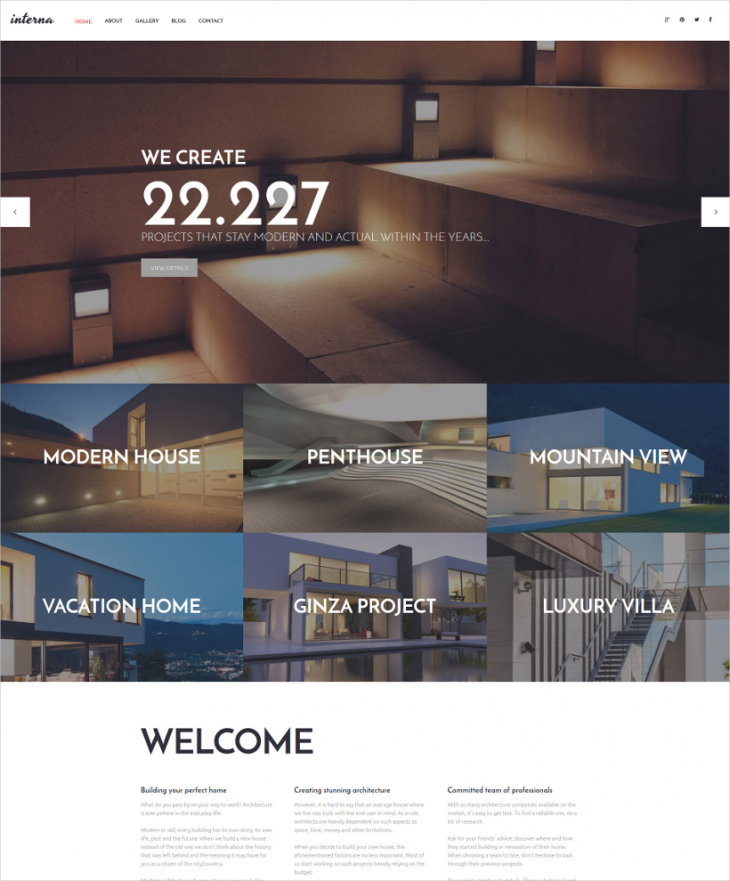 Simple Designed Parallax WordPress Template