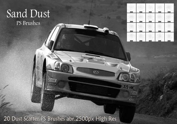 sand dust ps brush set