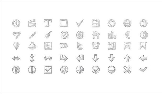 Free Doodle Icon Set
