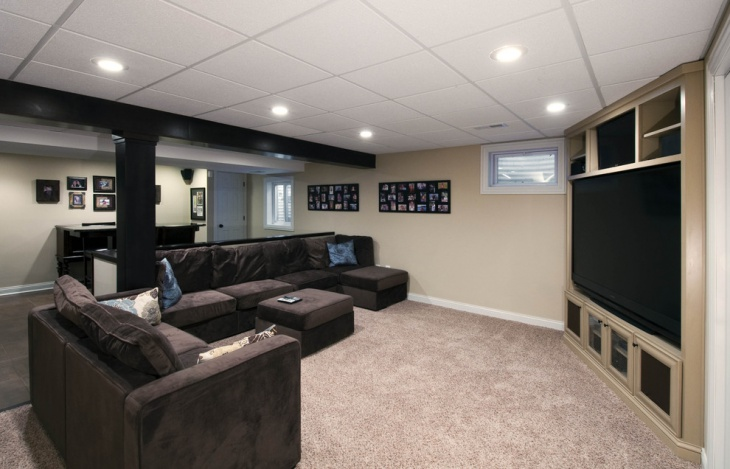 Drop Ceiling Lighting Basement