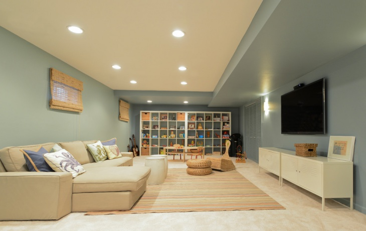 Traditional Basement Light Design