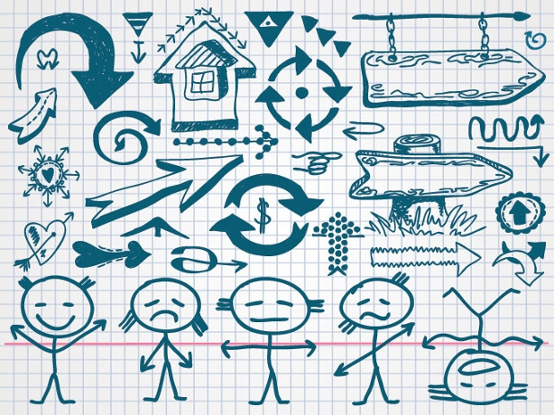 Hand Drawn Doodle Arrow Icons