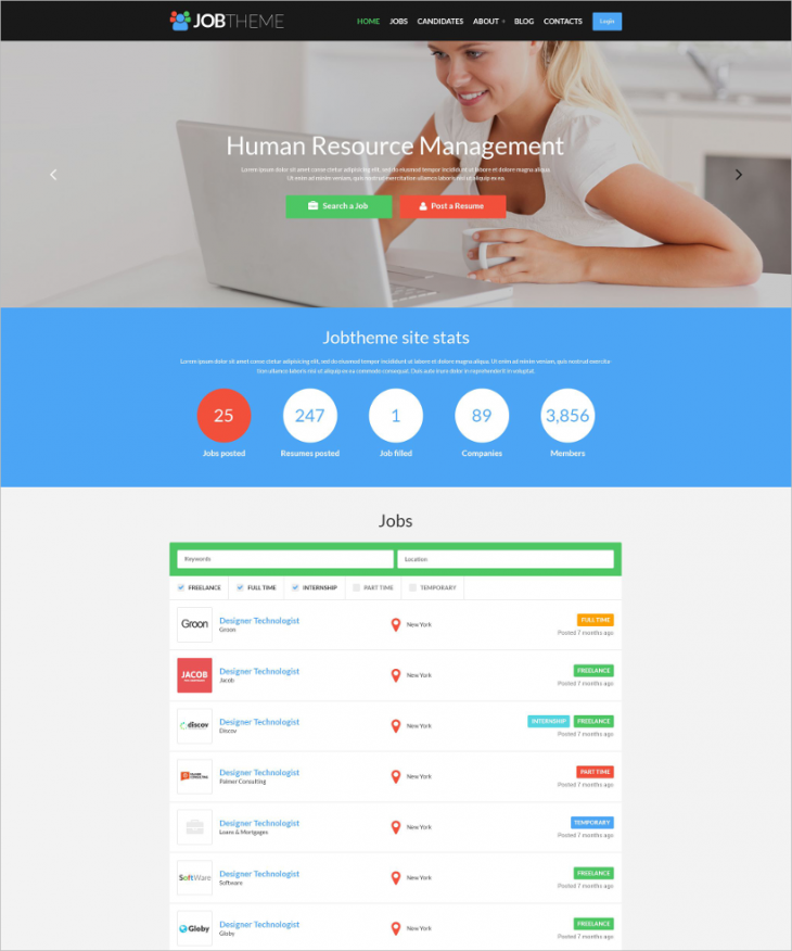 Job Engine WordPress Template
