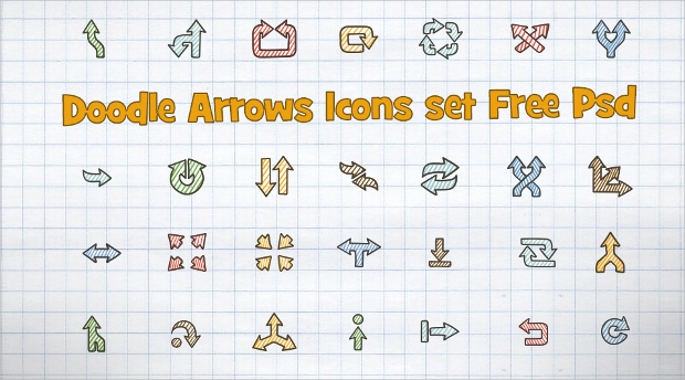 Doodle Arrow Icons