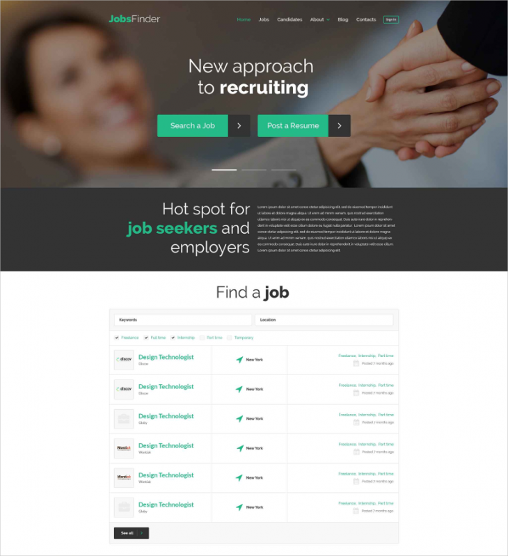 Wordpress Job Portal Template