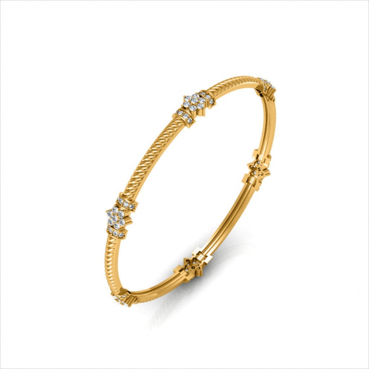 diamond daisy bracelet design