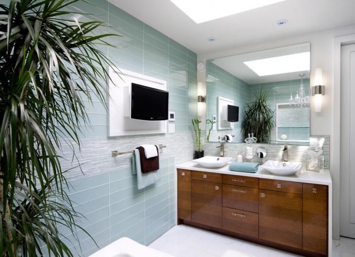 classic powder room vanity