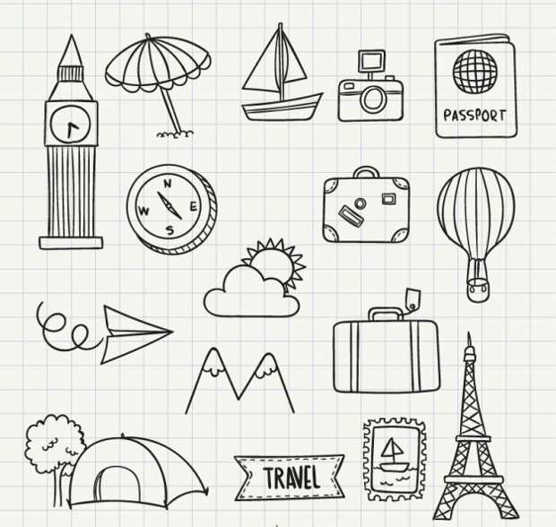 Travel Doodle Icons