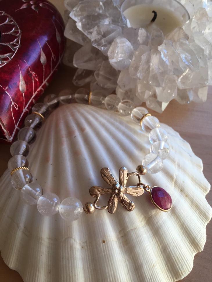 Ruby Daisy Bracelet