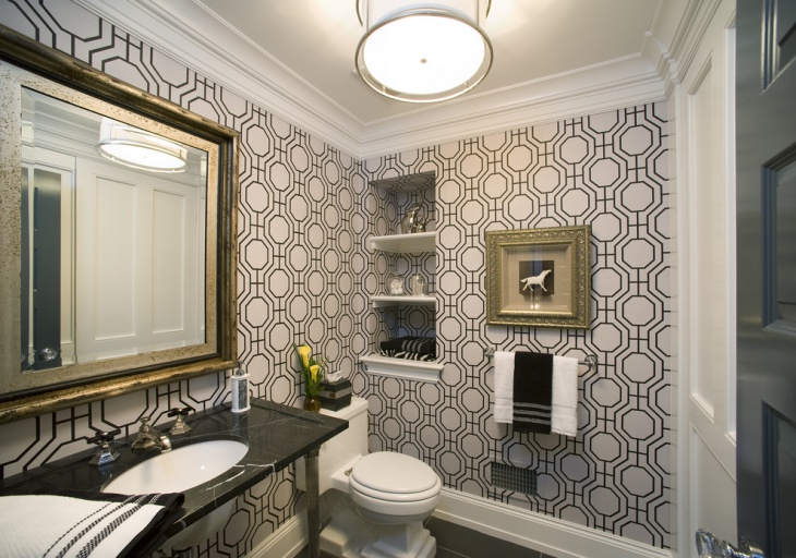 Formal Powder Room Vanity