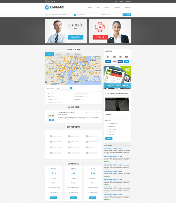 Job Career WordPress Template