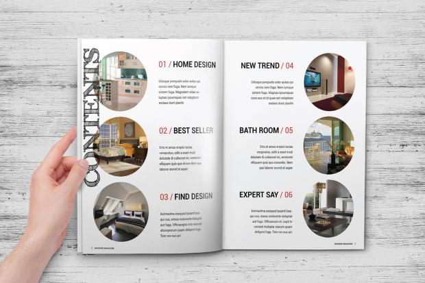 multipurpose interior design magazine