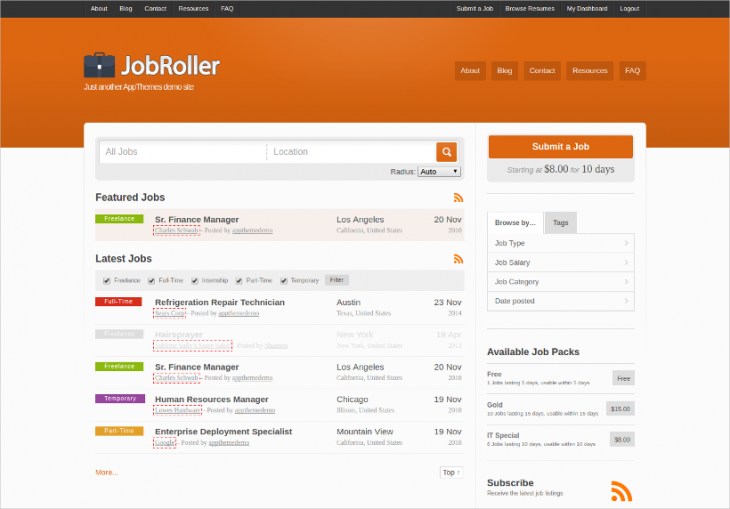 Jobs Listing WordPress Theme