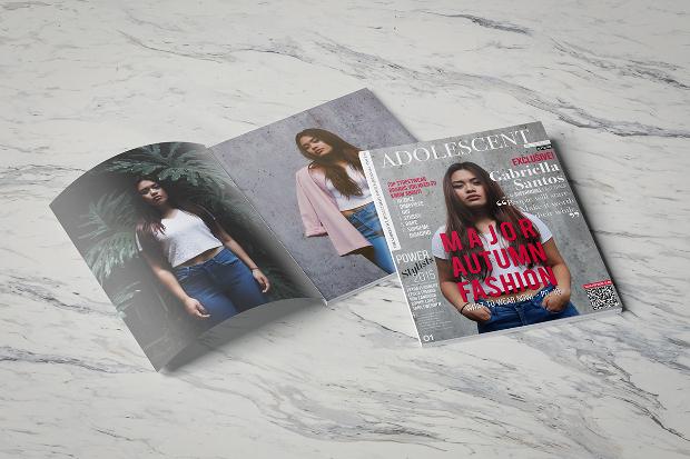 teen fashion magazine design