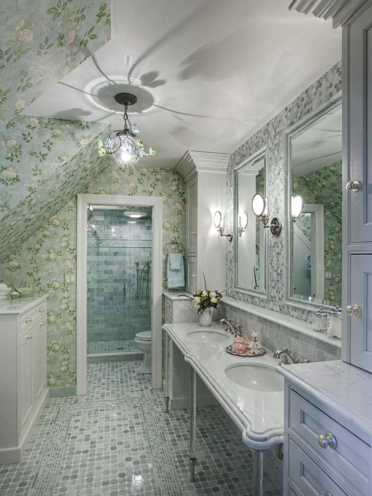 17+ Floral Bathroom Tile Designs, Ideas | Design Trends - Premium ...