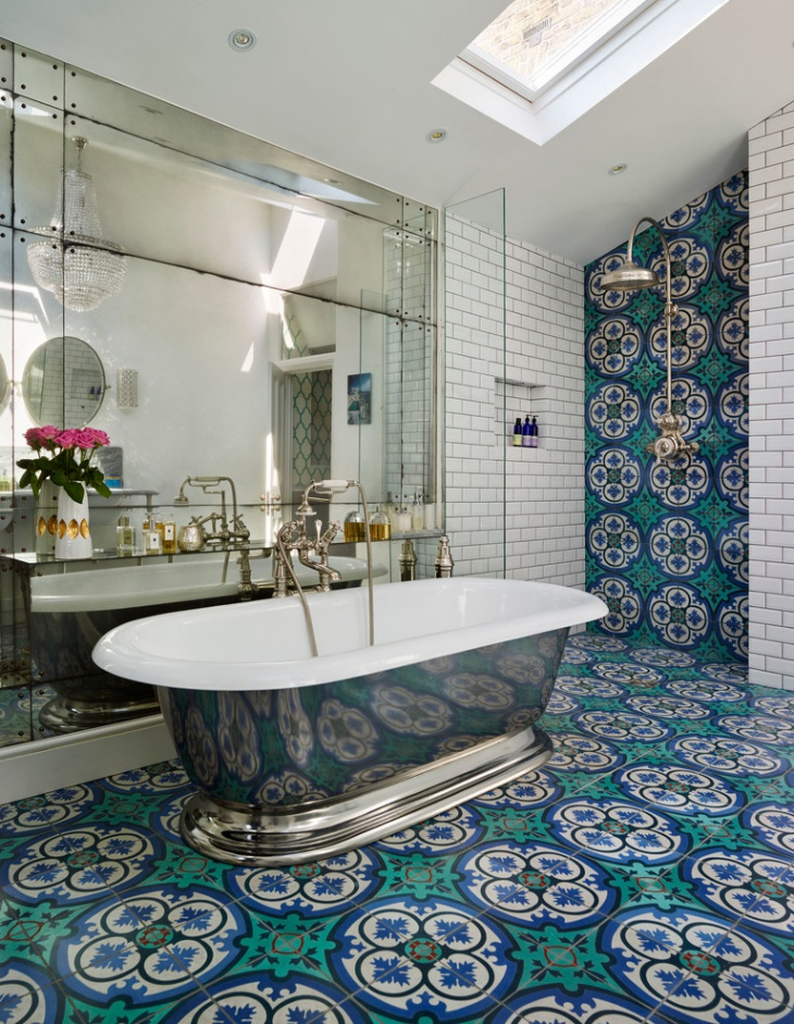 17 floral bathroom tile designs ideas design trends for Bathroom tiles spain