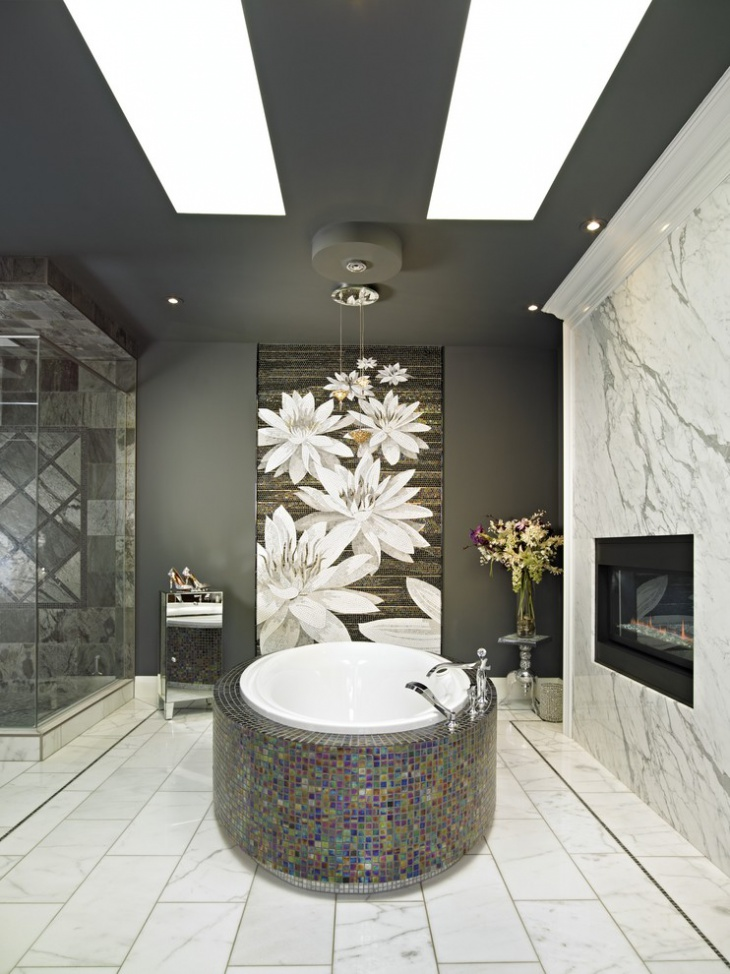 17 Floral Bathroom Tile Designs Ideas Design Trends