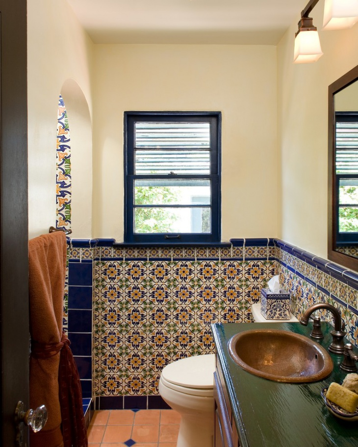 17+ Floral Bathroom Tile Designs, Ideas | Design Trends ...