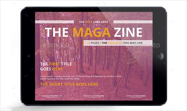 indesign web magazine design