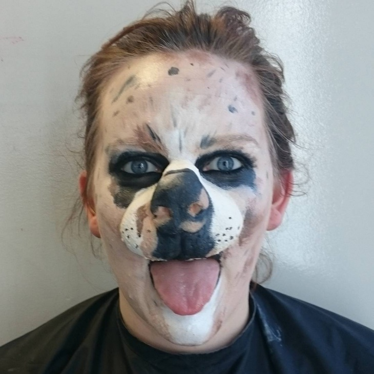 halloween puppy makeup