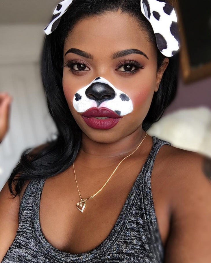 Dalmatian Puppy Makeup