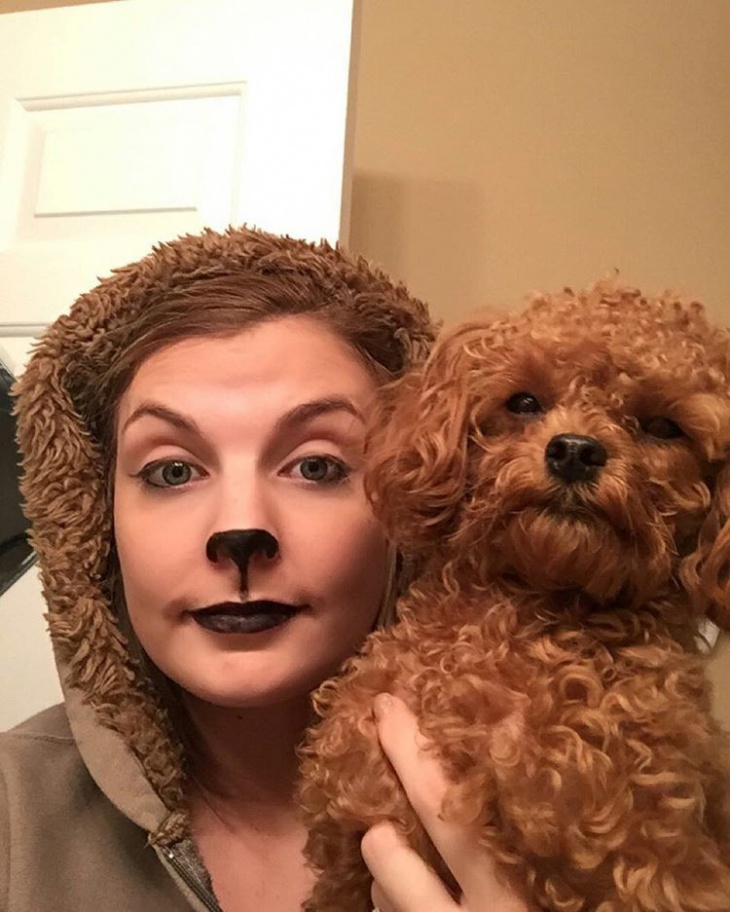 simple puppy makeup idea