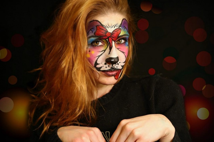 dog facepaint makeup
