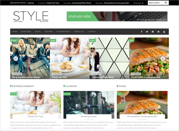 online web magazine template