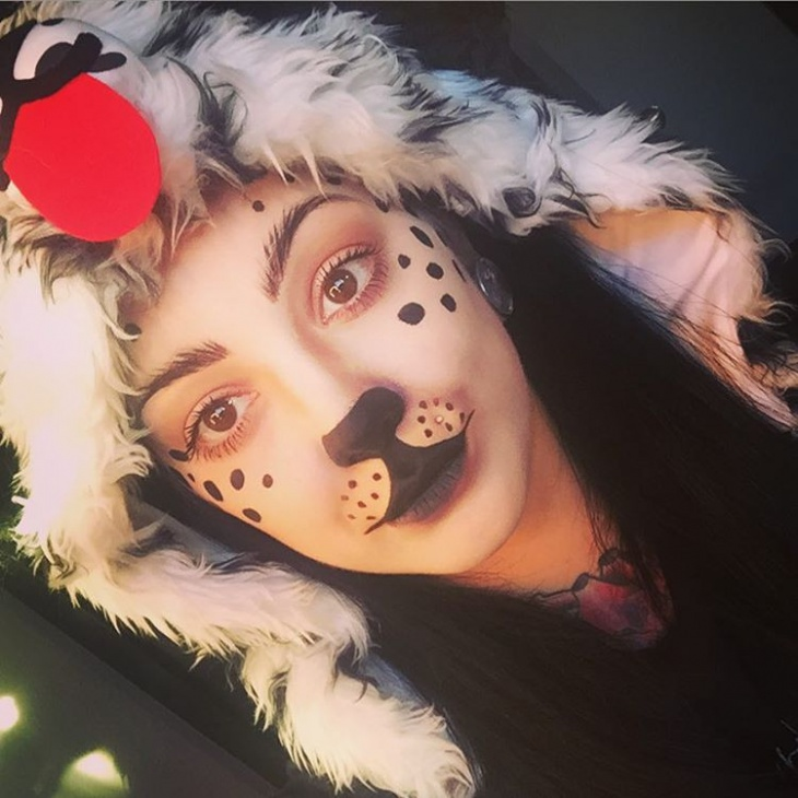 cute puppy makeup for women