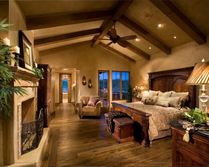 Dark Tuscan Bedroom Design