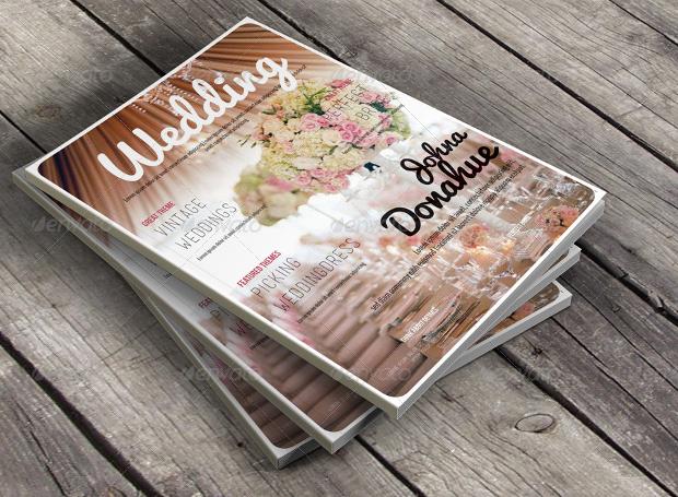 elegant wedding magazine design