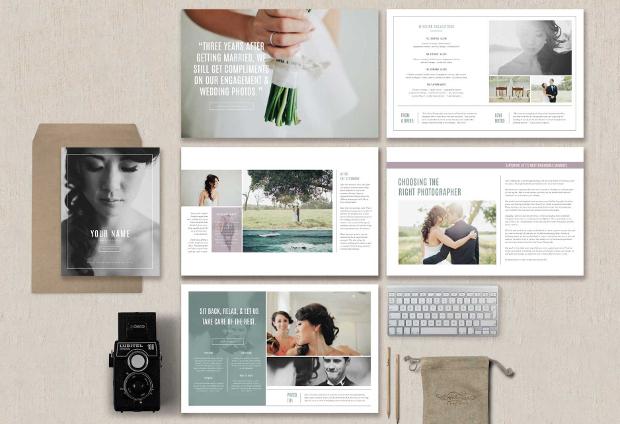 wedding photographer magazine design