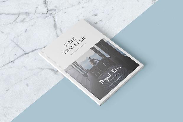 a4 travel magazine design