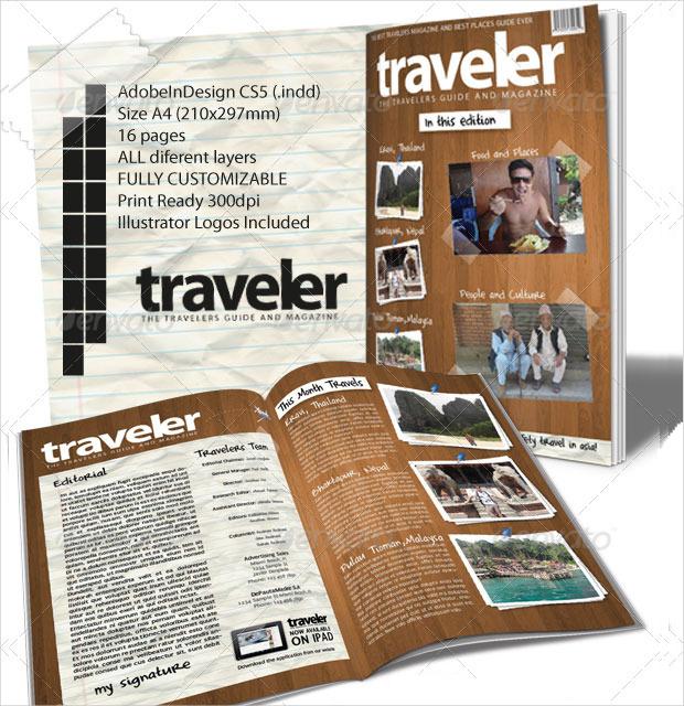 indesign travel magazine design