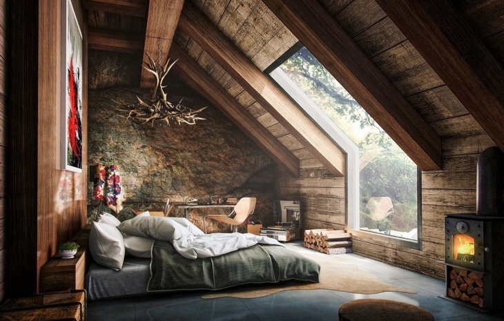 Rustic Tuscan Bedroom Design