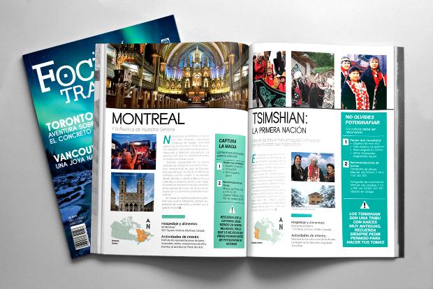 elegant travel magazine design
