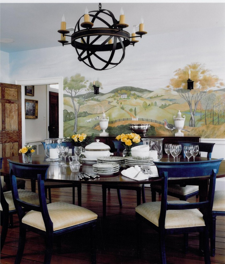 57 dining room designs ideas design trends premium for Traditional dining room decorating photos