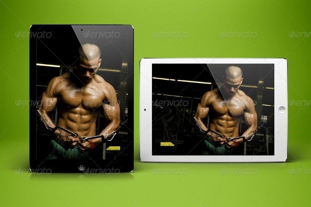 fitness tablet magazine design