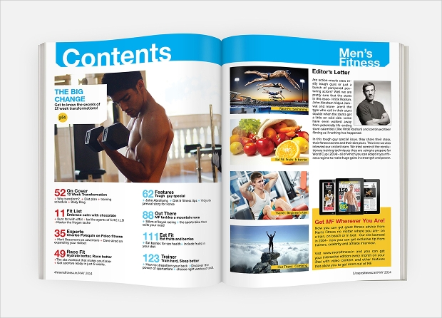 mens fitness magazine design