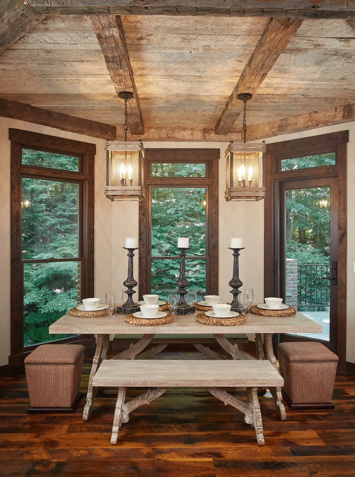 Rustic Farmhouse Dining Room Idea