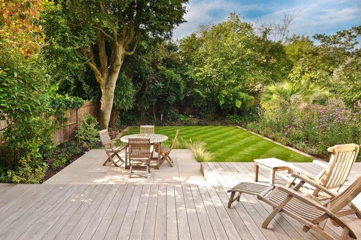 Backyard Garden Deck Design
