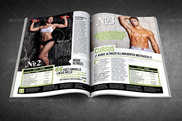 body fitness magazine design