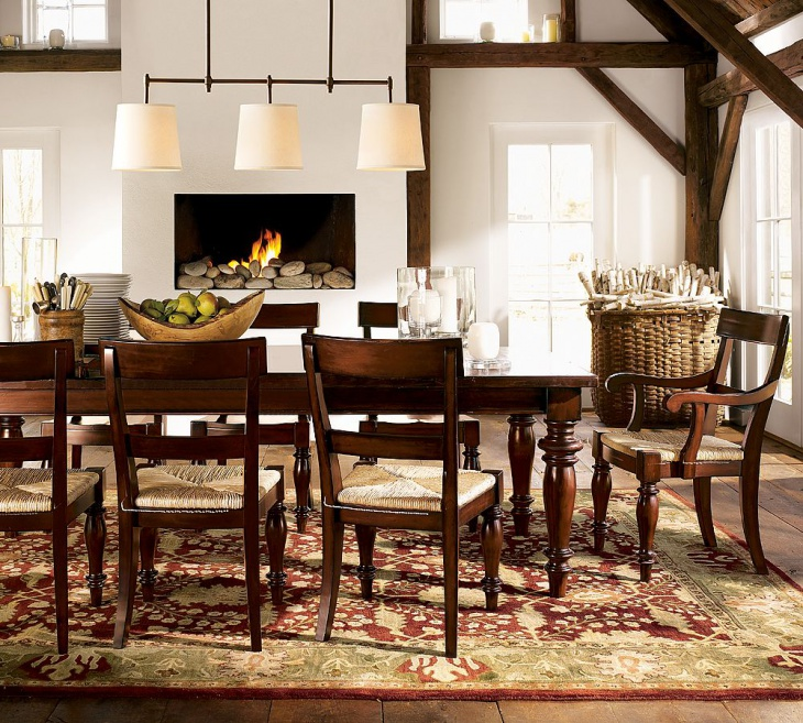 Traditional Dining Room With Fireplace. Traditional Dining Room With  Fireplace. Potterybarn.com