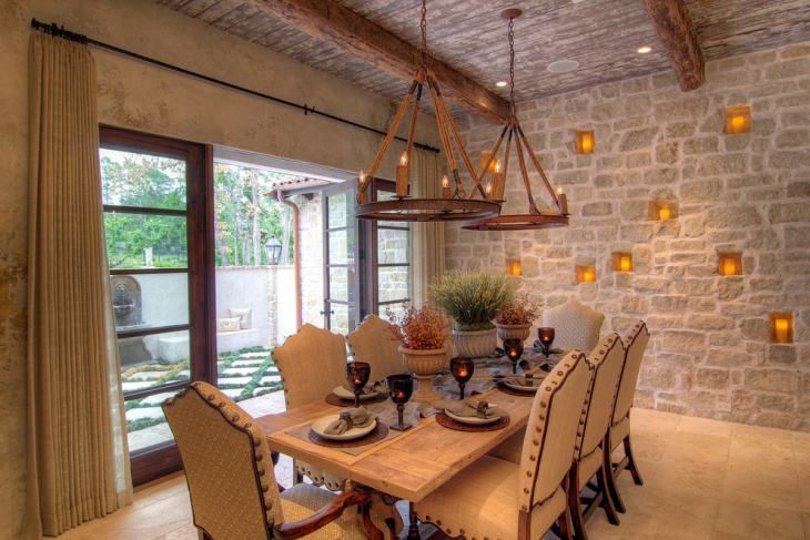 Tuscan Farmhouse Dining Room Design