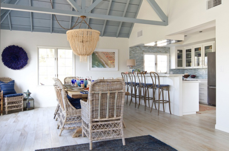 Beach Cottage Dining Room Design