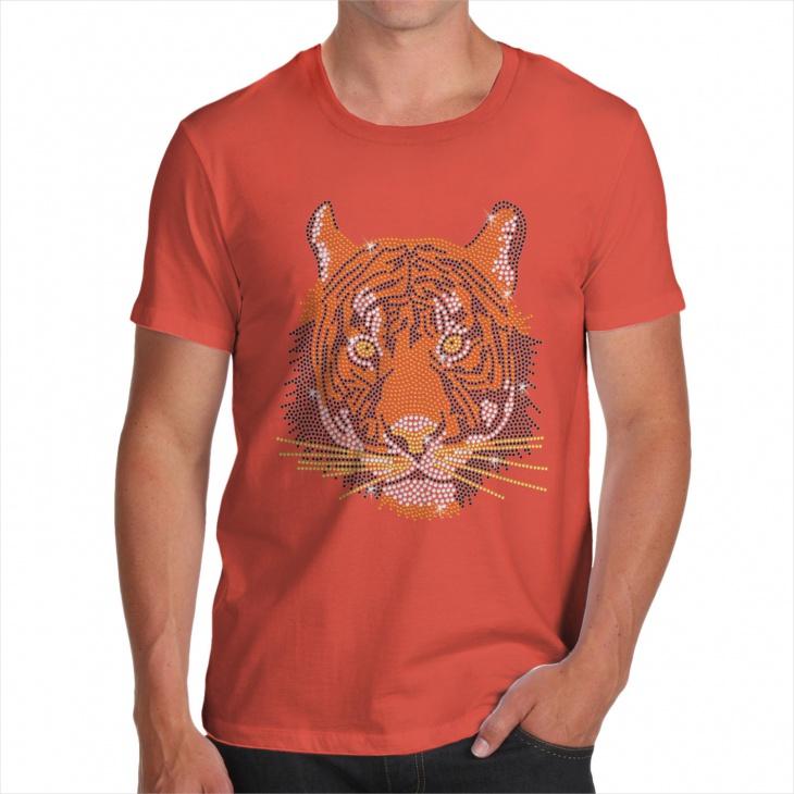 Tiger Rhinestone T Shirt